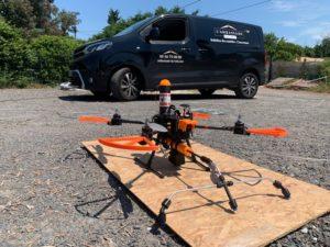 nettoyage tuile drone avec ambassade du toit